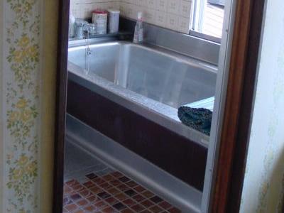 以前のお風呂 ステンレスバスタブ