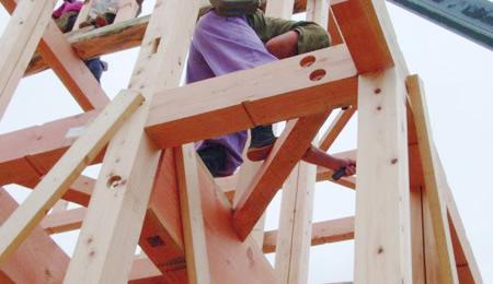 木造軸組工法イメージ