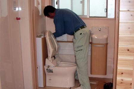 トイレの設置完了
